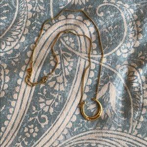Stella & Dot gold horn necklace